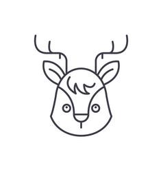 funny moose line icon concept funny moose vector image