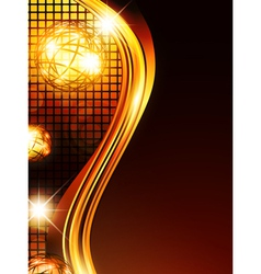 golden wavy background vector image