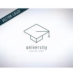 Graduation hat logo icon education vector
