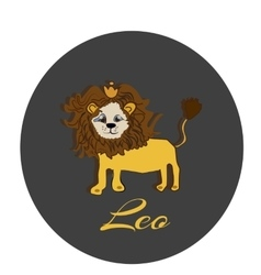 Happy Leo sticker hand drawn of a vector image