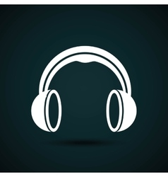 headphones icon design vector image