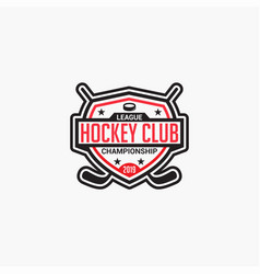 hockey club badge logo-9 vector image