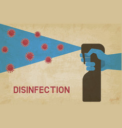 home disinfection concept vintage background vector image