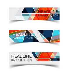 horizontal banner set 3 vector image