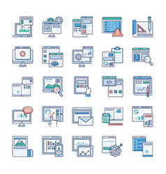infographic elements about web development flat ic vector image