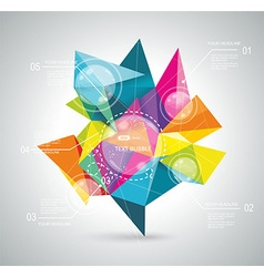 Infographics with abstract background vector image