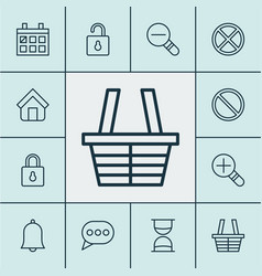 internet icons set collection of exit increase vector image