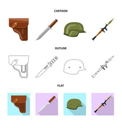 Isolated object of weapon and gun logo collection vector