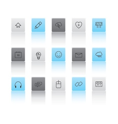 Light and dark web icons vector image