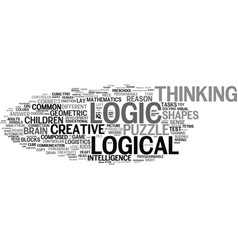 Logic word cloud concept vector