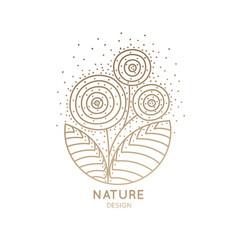 Logo three flowers vector