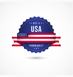 Made in usa premium quality label badge template vector