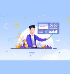 Man video blogging business vector