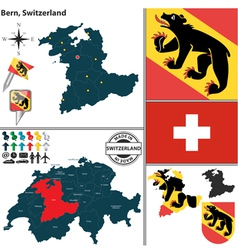 Map of Bern vector image