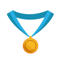 Medal award win sport gold icon vector