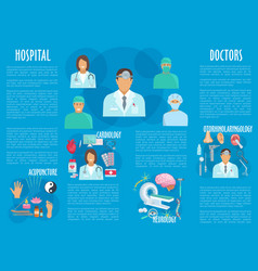 medical or hospital healthcare infographics vector image