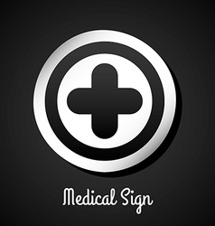 Medical sign design vector