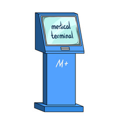 medical terminal terminals single icon in cartoon vector image