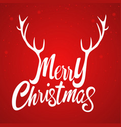 Merry christmas with decorative antlers vector