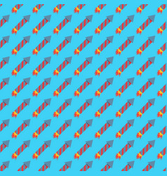 missile rocket seamless pattern vector image