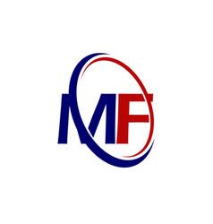 Modern solution letter m f vector