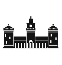 old castle icon simple style vector image