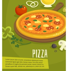 Pizza poster menu layout template vector