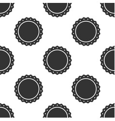 Quality emblem icon seamless pattern vector