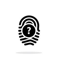 Question mark FAQ sign Fingerprint icon on white vector