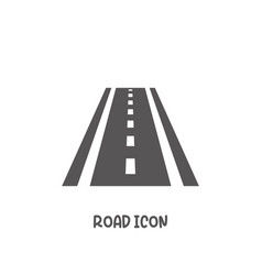 Road icon simple flat style vector