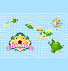 rough and not detailed hawaiian islands on the vector image