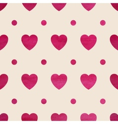 Seamless heart background vector image