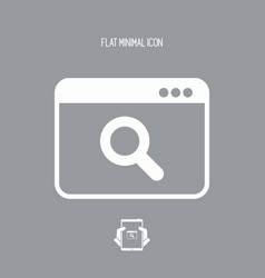 search window - flat minimal icon vector image
