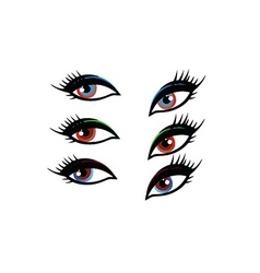 Set of eyes vector