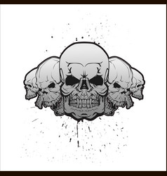 skulls in a row vector image