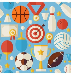 Sport Competition Recreation Flat Blue Seamless vector image