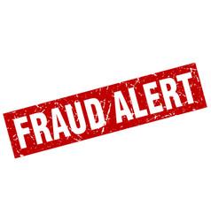 square grunge red fraud alert stamp vector image