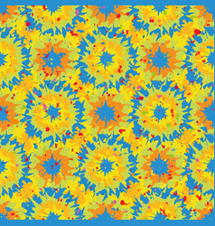 Tie dye effect abstract seamless pattern vector
