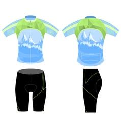 Uniform bike shirt vector