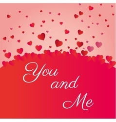 Valenties day you and me heart icons vector