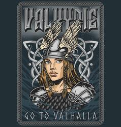 Viking vintage colorful poster vector