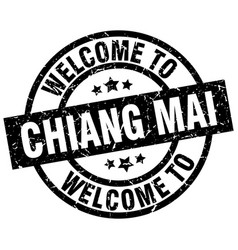 Welcome to chiang mai black stamp vector