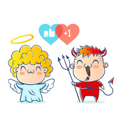 angel and devil vector image