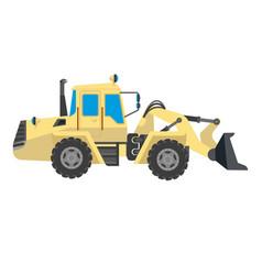 bulldozer modern model isolated on white vector image vector image