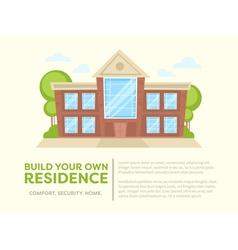 Cartoon house card vector image vector image