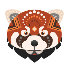 red panda head logo fire fox decorative vector image vector image