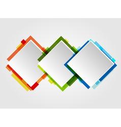 Romb Design Frames vector image vector image