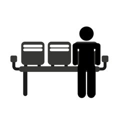waiting room chairs isolated icon vector image