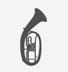 widely menzurny brass instrument tube vector image