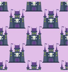 cartoon fairy tale castle key-stone palace tower vector image